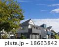 新しい町の家並み 18663842