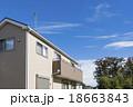 新しい町の家並み 18663843