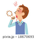 咳をする男性 18670693