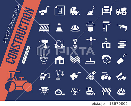 Construction icons collection. 18670802
