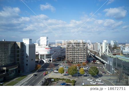 帯広駅前風景 18672751