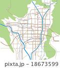 京都の略地図 広域_駅四角ver 18673599