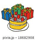 誕生日ケーキとプレゼント 18682908