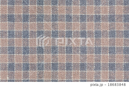 Seamless brown and gray checkered fabric textureの写真素材 [18683848] - PIXTA