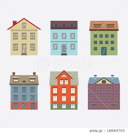Set Of Vintage Building.のイラスト素材 [18684705] - PIXTA