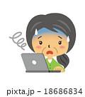 パソコンと主婦【二頭身・シリーズ】 18686834