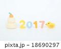 2017 酉年 年賀状素材の写真 18690297