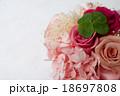 プリザーブドフラワーと四つ葉のクローバー 18697808