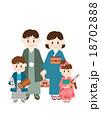 家族 着物 初詣のイラスト 18702888
