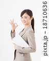 ビジネスウーマン タブレット 女性の写真 18710636