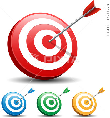 Dart Hitting A Target on white background 18711279