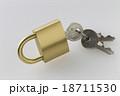南京錠 鍵 錠の写真 18711530