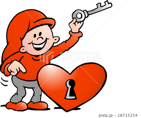 Happy Christmas Elf  with the key to the heart 18715254