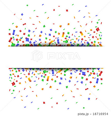 Colorful celebration background with confetti. のイラスト素材 [18716954] - PIXTA