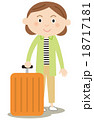 スーツケース 旅行 キャリーケースのイラスト 18717181