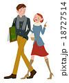 ショッピング 買い物 カップルのイラスト 18727514