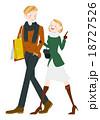 ショッピング 買い物 夫婦のイラスト 18727526