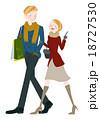ショッピング中の男女 18727530