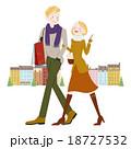 ショッピング中の男女 18727532