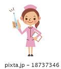 体温計を持つ看護師(ナース) 18737346