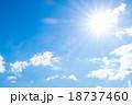 層雲 積雲 秋の空 白い雲と青い空 背景素材 コピースペース 文字スペース 18737460