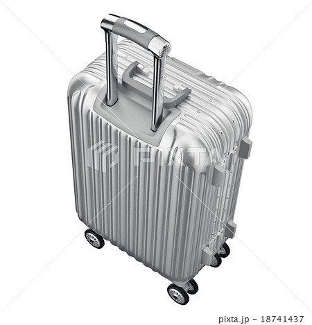 Silver metal luggage for travelのイラスト素材 [18741437] - PIXTA