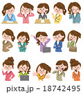 女性 ビジネス アイコン 18742495