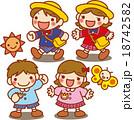 子供 男の子 女の子のイラスト 18742582