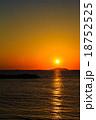 軍艦島と夕陽 18752525