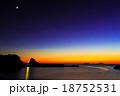 軍艦島と夕陽 18752531