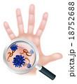 手 バクテリア バイキンのイラスト 18752688