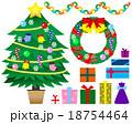 クリスマスイブ クリスマス クリスマスツリーのイラスト 18754464