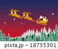 トナカイ クリスマス クリスマスイブのイラスト 18755301