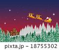 トナカイ クリスマス クリスマスイブのイラスト 18755302