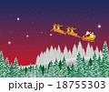 トナカイ クリスマス クリスマスイブのイラスト 18755303