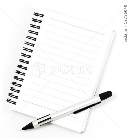white notebook isolated on white backgroundの写真素材 [18756040] - PIXTA