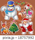 xマス クリスマス ゆきだるまのイラスト 18757992