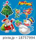xマス クリスマス ゆきだるまのイラスト 18757994