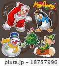 xマス クリスマス ゆきだるまのイラスト 18757996