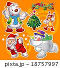 xマス クリスマス ゆきだるまのイラスト 18757997