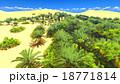 景色 砂漠 砂丘のイラスト 18771814