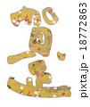 賀正 年賀状 筆文字のイラスト 18772863