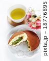 どら焼き 緑茶 抹茶クリームの写真 18776895