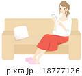 スマートフォン 操作 メールのイラスト 18777126