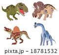 恐竜(ティラノサウルス、トリケラトプス、スピノサウルス、ブラキオサウルス) 18781532