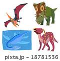 恐竜(プテラノドン、カスモサウルス、プレシオサウルス、パラサウロロフス) 18781536