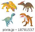 恐竜(プロトケラトプス、サウロロフス、ムッタブラサウルス、フクイラプトル) 18781537