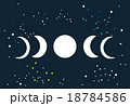 Lunar eclipse Moon phases circle with stars space  18784586