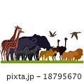 Silhouette Animal Safari Migrate 18795670