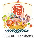 宝船の七福神 18796863